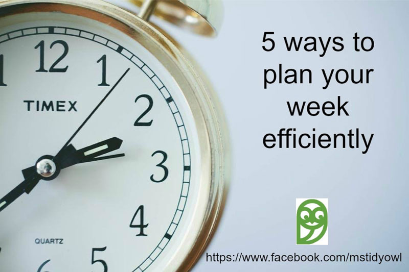 5 Ways to Plan Your Week Efficiently